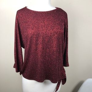 Red Shimmer Blouse XL ✨✨✨